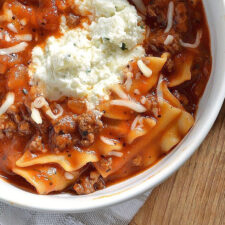 Instagram post image lasagna soup